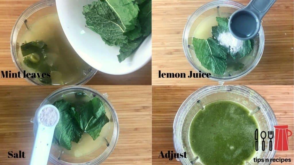 Green soup- adding ingredients