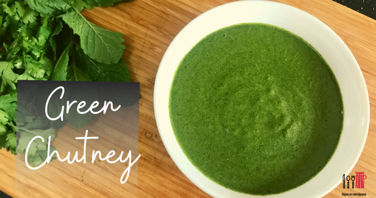 5 Minutes Green Chutney Recipe