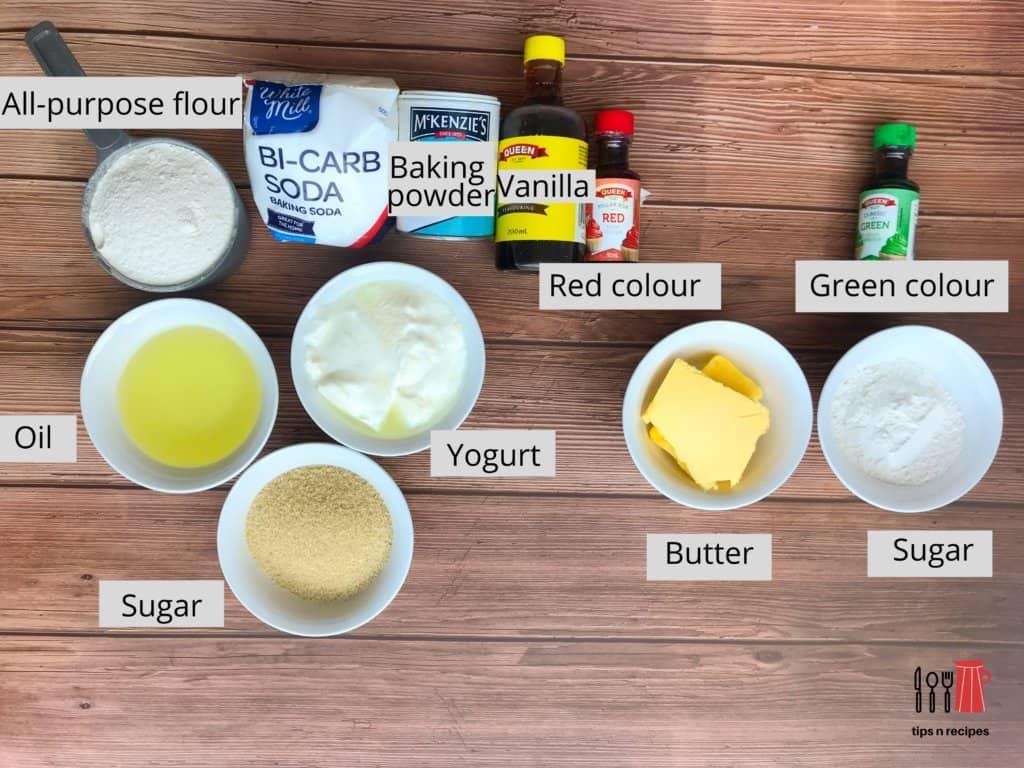 Ingredients Christmas cake